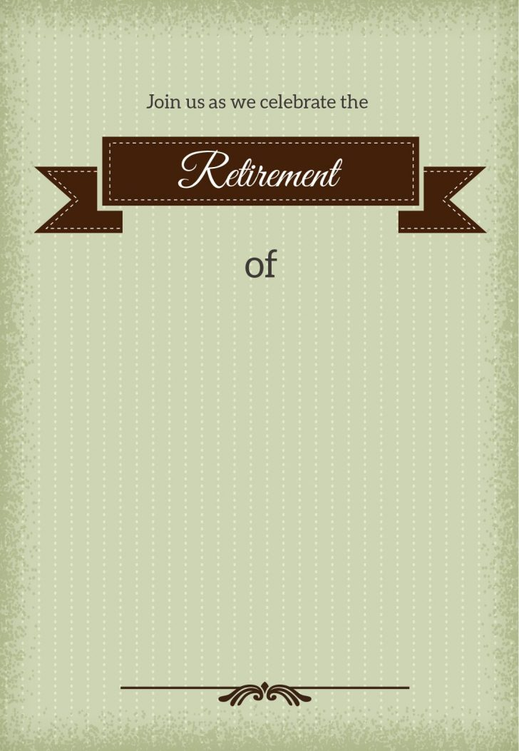 Free Printable Retirement Party Flyers