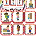 Classroom Helper And Job Cards Rainbow Chevron | Kinderland   Free Printable Classroom Helper Signs