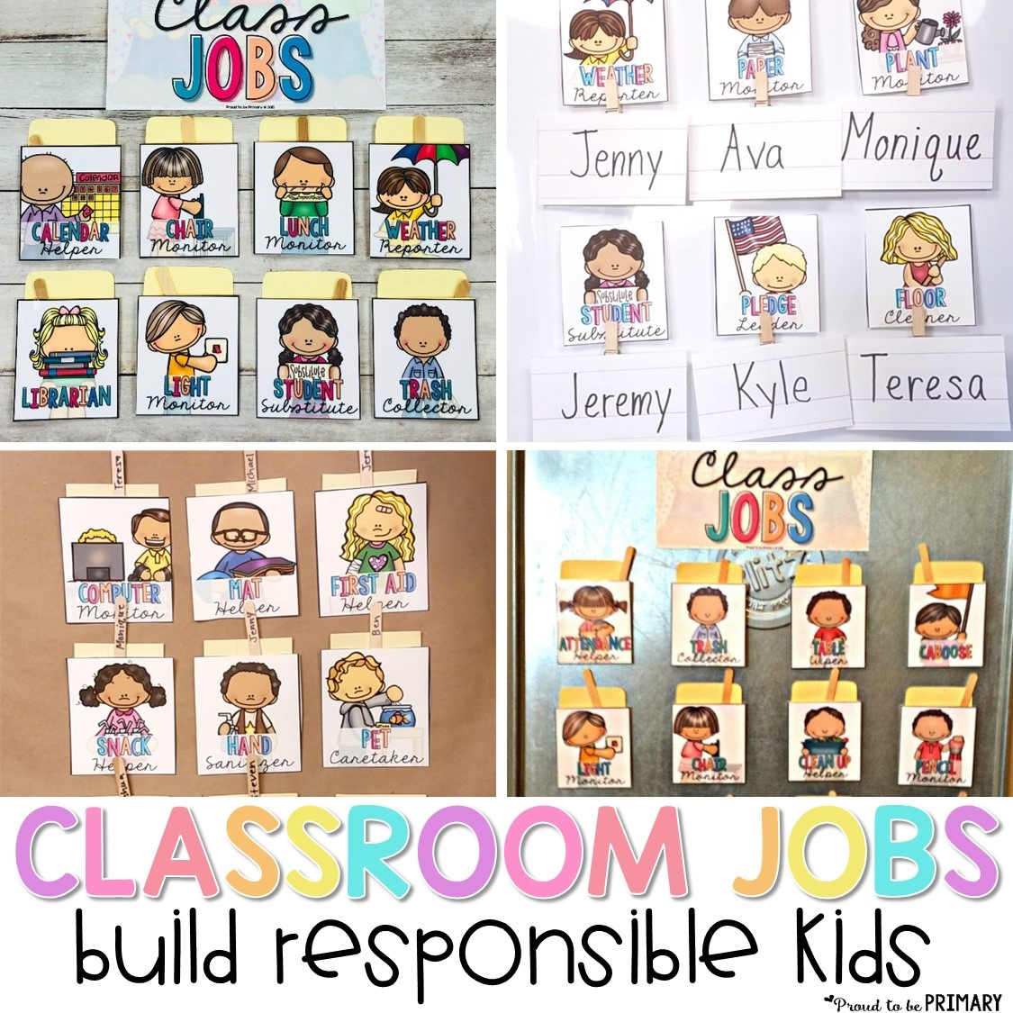 Classroom Jobs That Kids Will Love – Proud To Be Primary - Free Printable Classroom Helper Signs