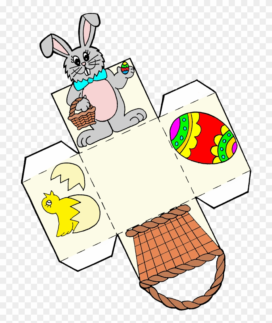 Classroom Treasures - Easter Egg Basket Template Clipart (#895384 - Free Printable Easter Egg Basket Templates
