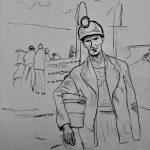 Coal Miner (Isadora Harper, Pencil Drawing, 2017) | Isadora Harper   Free Printable Pencil Drawings