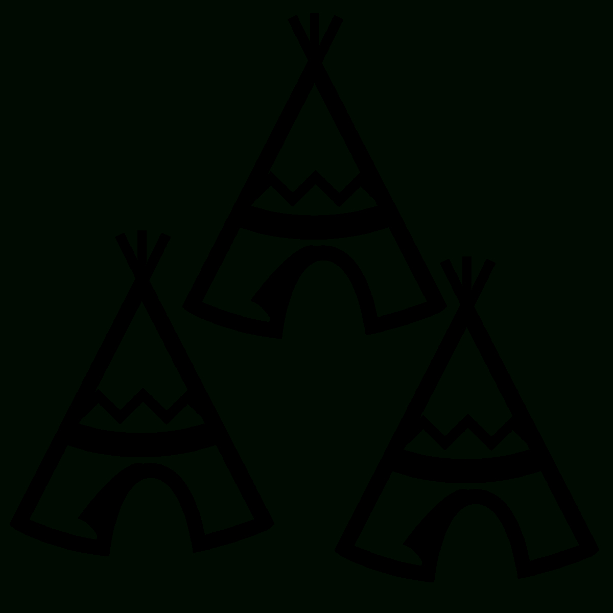 Collection Of Free Teepee Svg Printable. Download On Ui Ex - Free Printable Teepee