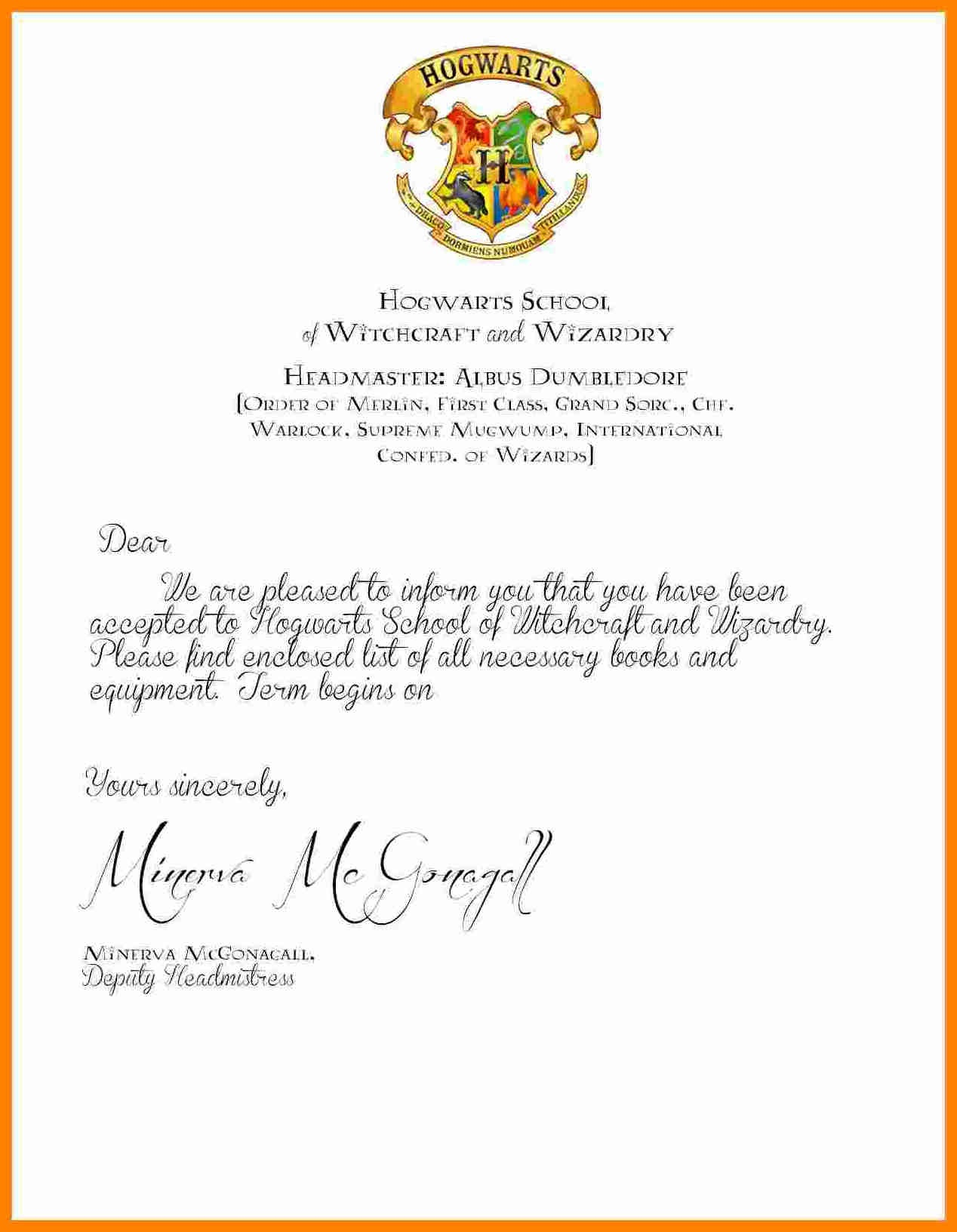Collection Of Hogwarts Acceptance Letter Envelope Template Printable - Hogwarts Acceptance Letter Template Free Printable