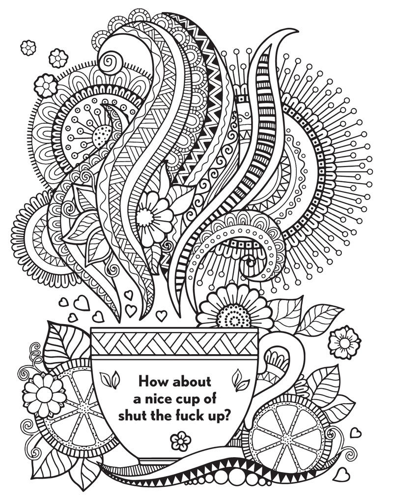 Coloring Book World ~ Coloring Book World Outstanding Thewear Word - Free Printable Swear Word Coloring Pages