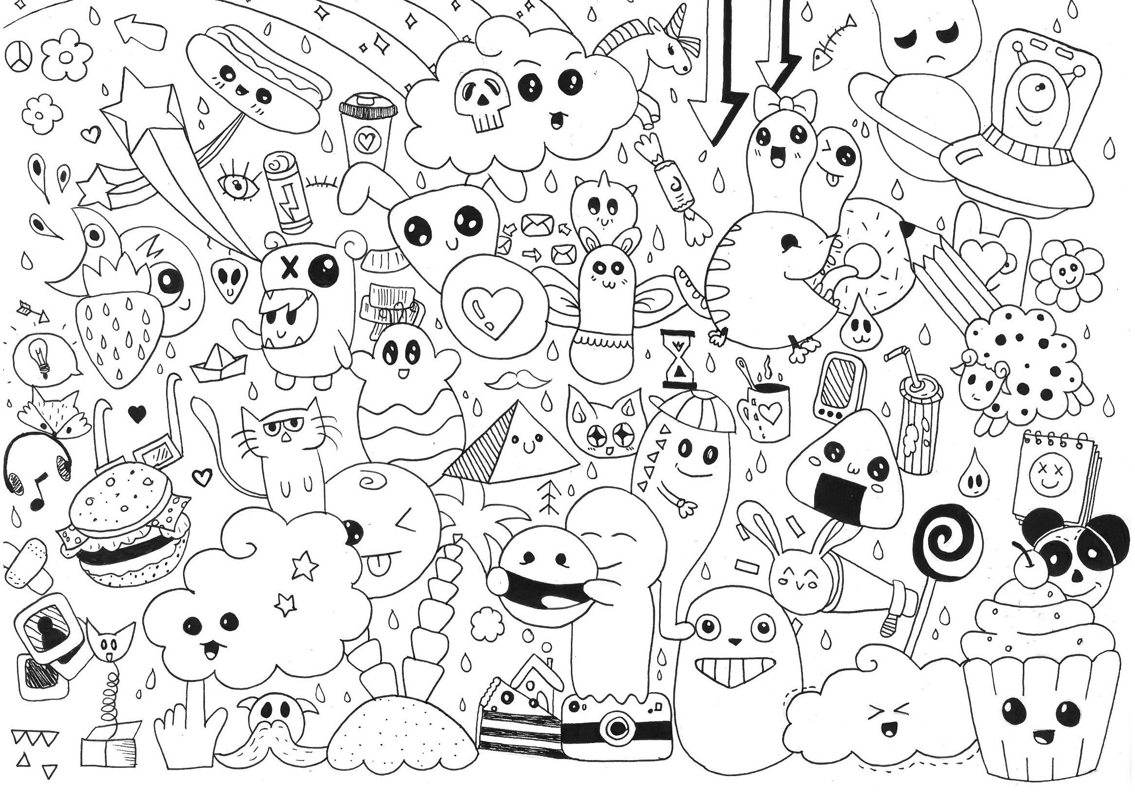 Coloring ~ Doodle Art Coloring Pages Www Allanlichtman Com For - Free Printable Doodle Art Coloring Pages