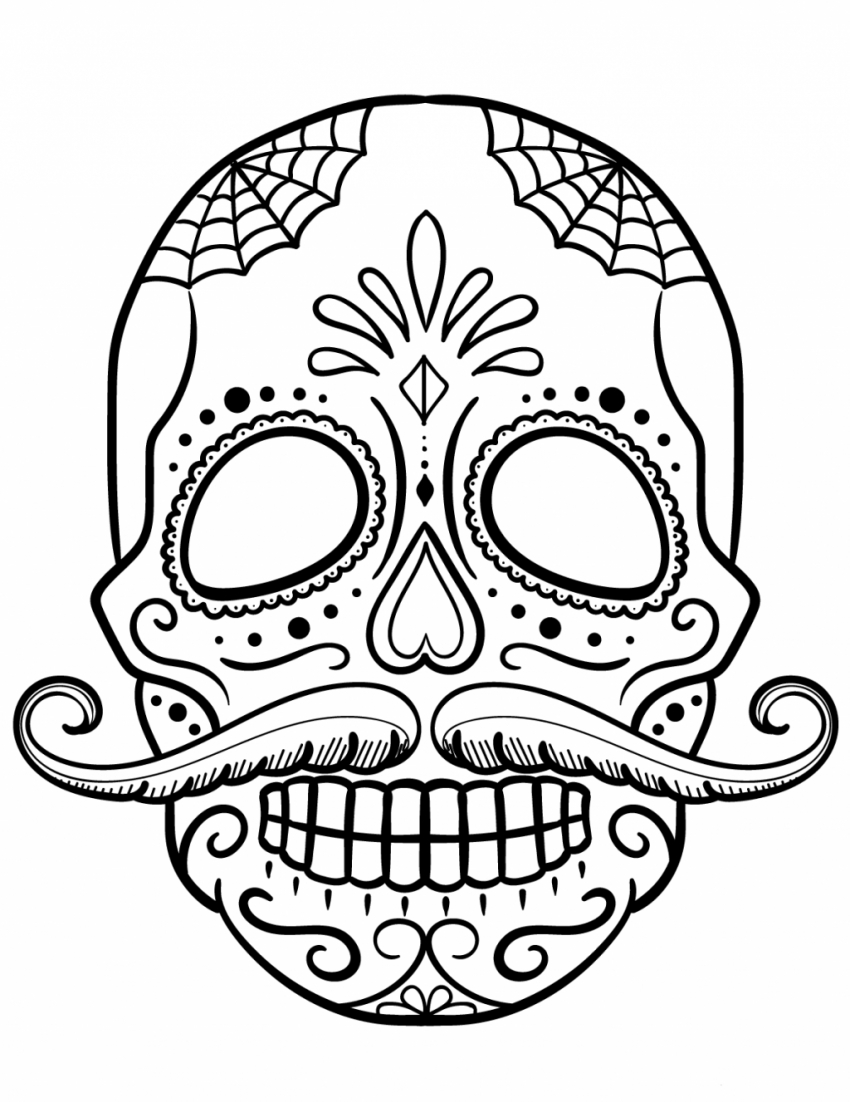Coloring Page ~ Coloring Pages Free Printable Sugar Skull Food For - Free Printable Sugar Skull Coloring Pages
