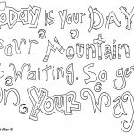 Coloring Page ~ Inspirational Quotesoloring Pages Page Dr Seuss   Free Printable Dr Seuss Coloring Pages