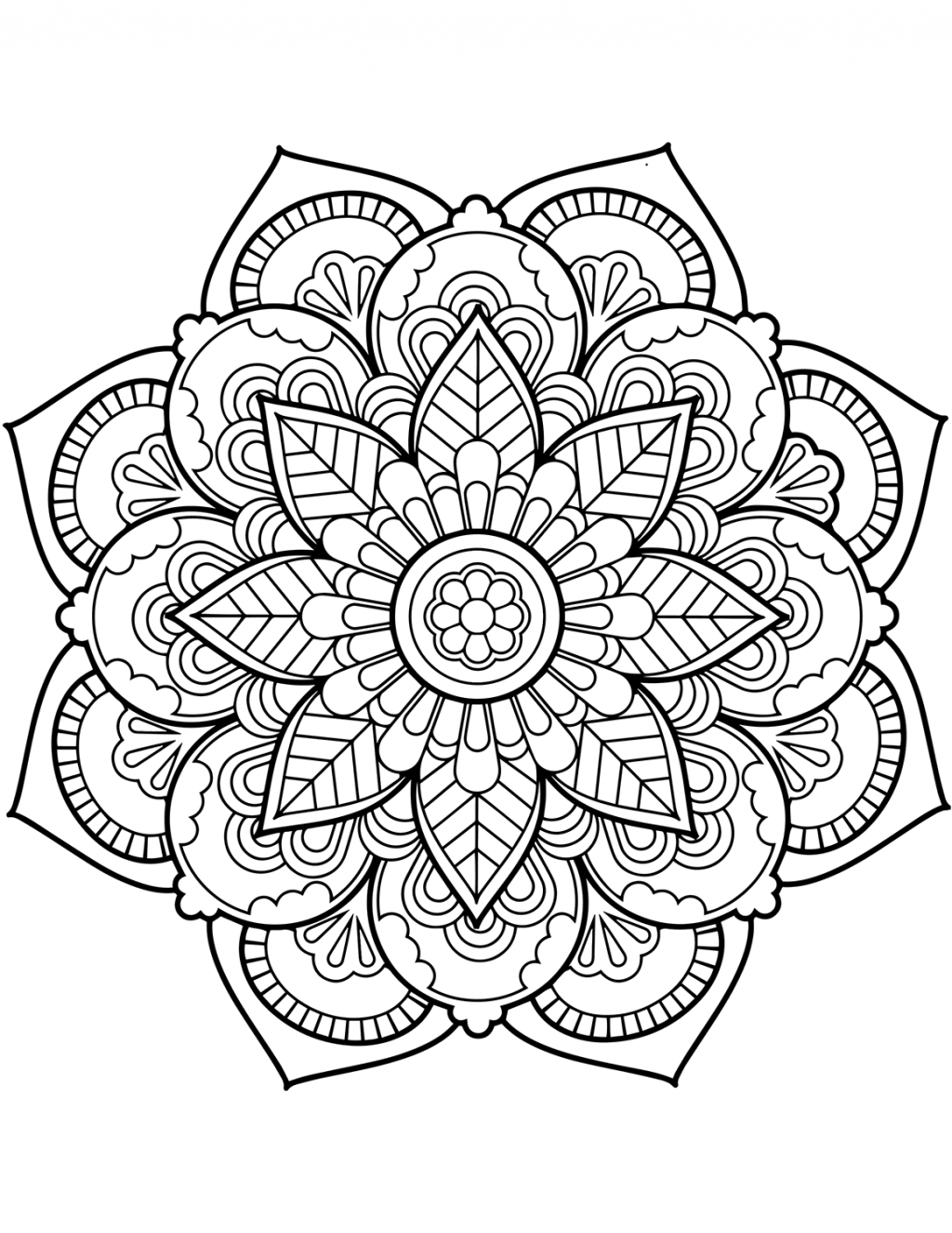 Coloring Page ~ Marvelous Mandala Coloring Sheets Printable Flower - Mandala Coloring Free Printable