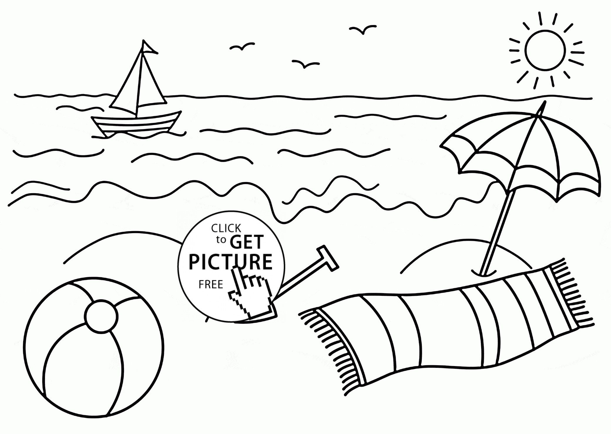 Coloring Pages Beach Theme New Free Printable Beach Coloring Pages - Free Printable Beach Coloring Pages