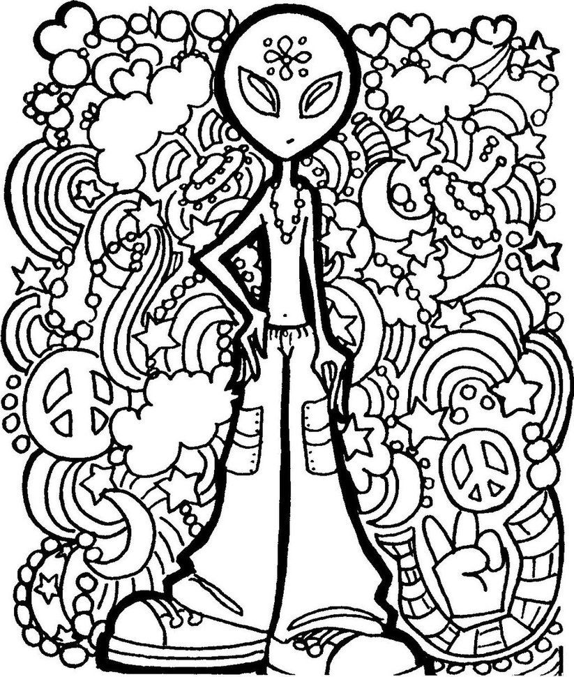 Coloring Pages: Coloring Pages & Clip Art On Coloring Pages - Free Printable Trippy Coloring Pages