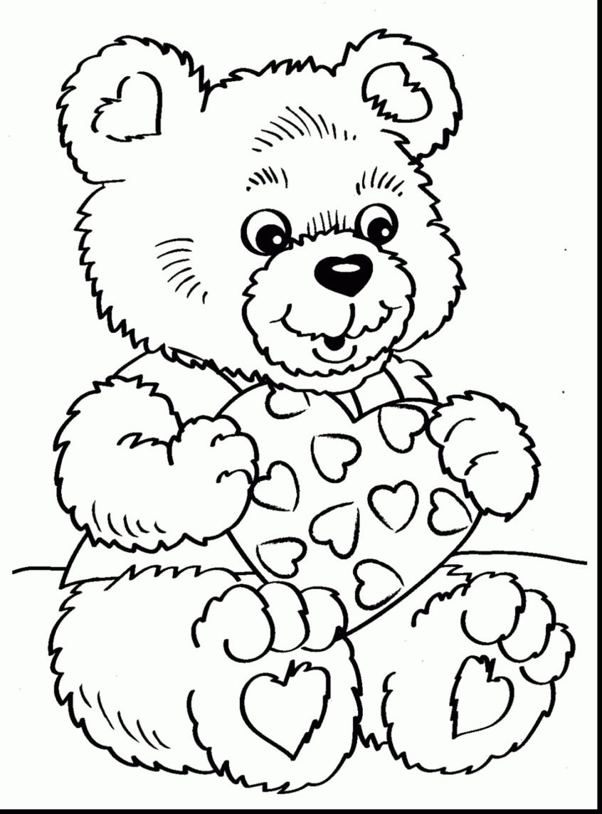 Coloring Pages Ideas: Best Of Teddy Bear Coloring Pages For Adults - Teddy Bear Coloring Pages Free Printable