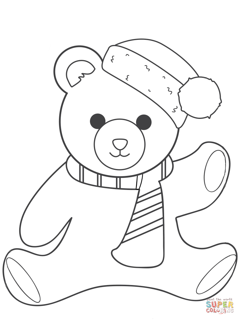 Coloring Pages Ideas: Coloring Pages Ideas Christmas Teddy Bearring - Teddy Bear Coloring Pages Free Printable
