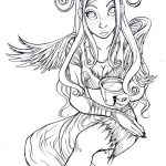 Coloring Pages Ideas: Fairy Coloring Pages For Adults Dark Tale Hard   Free Printable Coloring Pages For Adults Dark Fairies