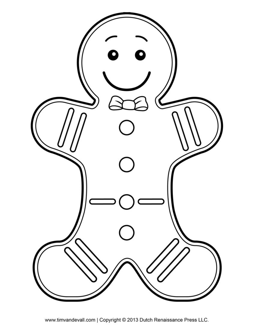 Coloring Pages Ideas: Gingerbread Men Girl Coloring Page Www - Gingerbread Template Free Printable