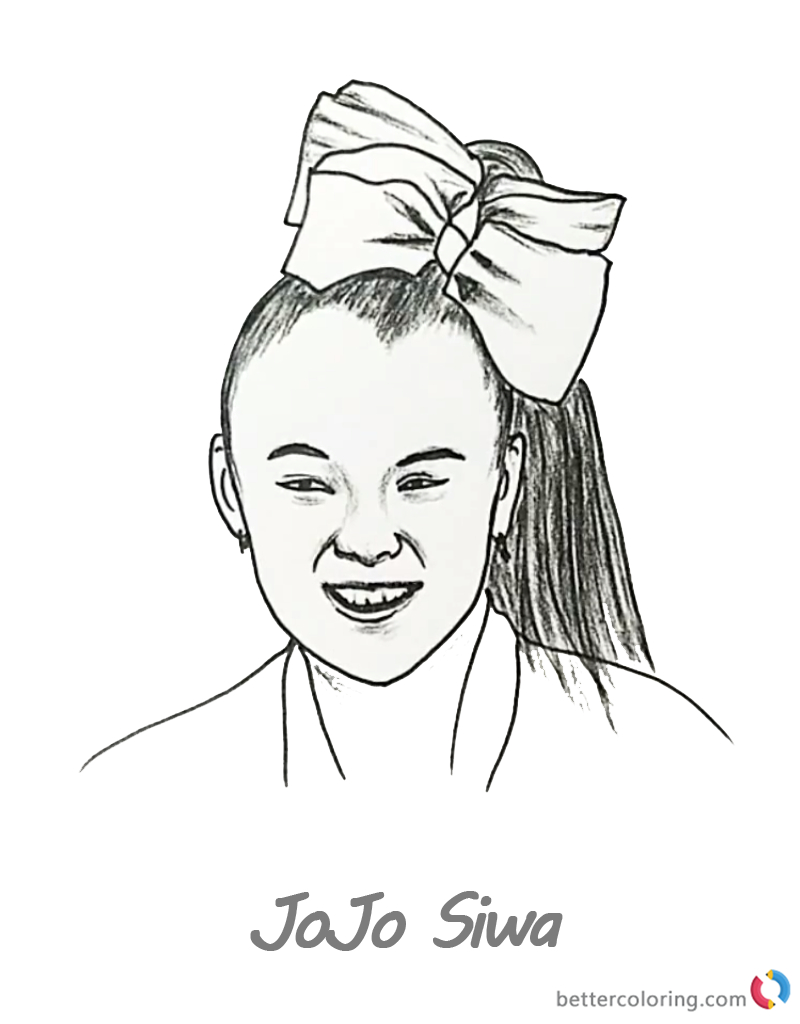 Coloring Pages Ideas: Jojo Siwa Coloring Pages Pencil Drawing Free - Free Printable Pencil Drawings