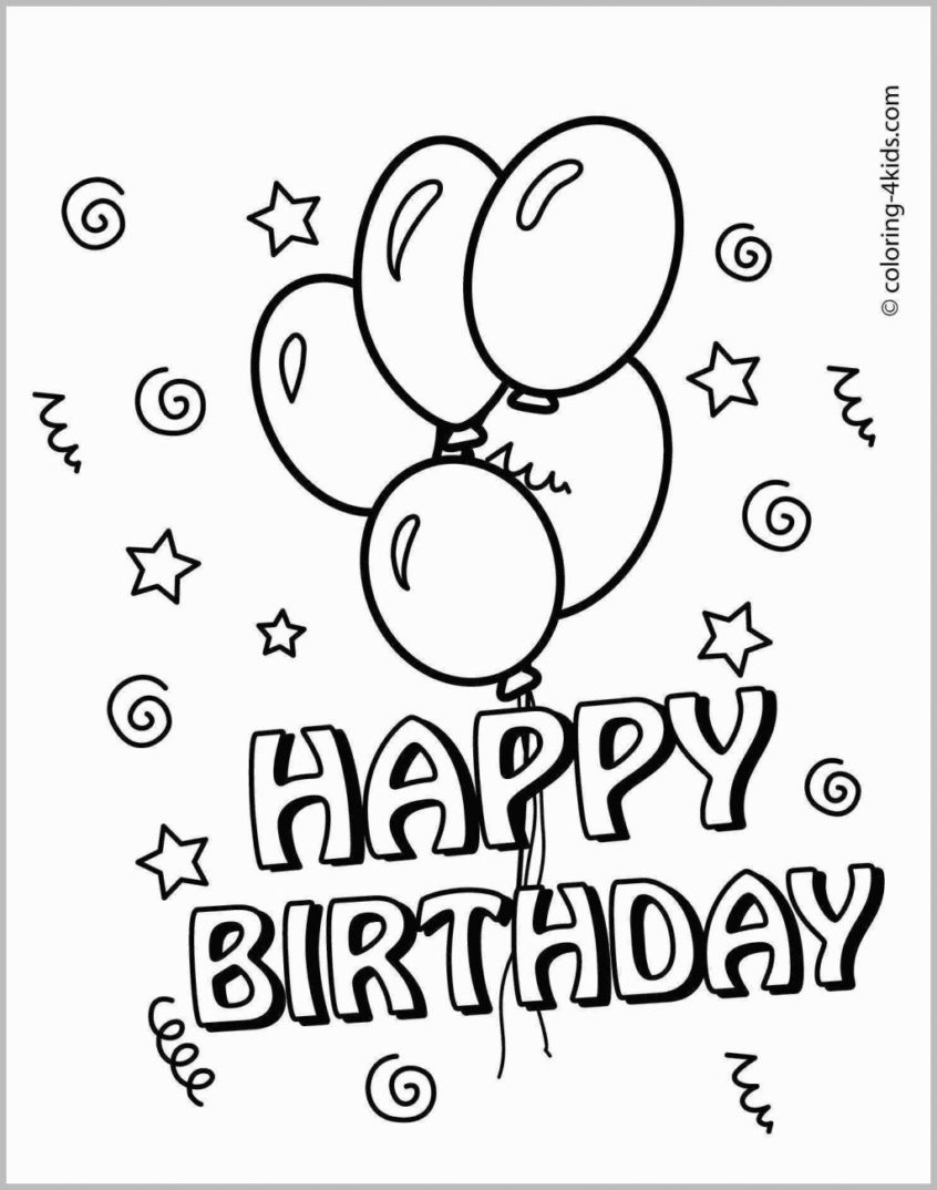 Coloring Pages Ideas: Printable Birthday Coloring Pages Amazing Card - Free Printable Birthday Cards To Color