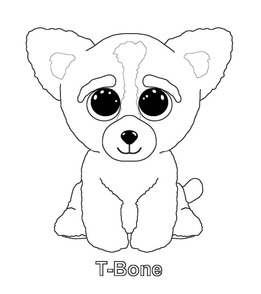 Coloring Pages Ideas: Ty Beanie Boooring Pages Download And Print - Free Printable Beanie Boo Coloring Pages
