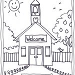 Coloring Pages Of School House | Coloring Pages Wallpaper | Teaching   Back To School Free Printable Coloring Pages