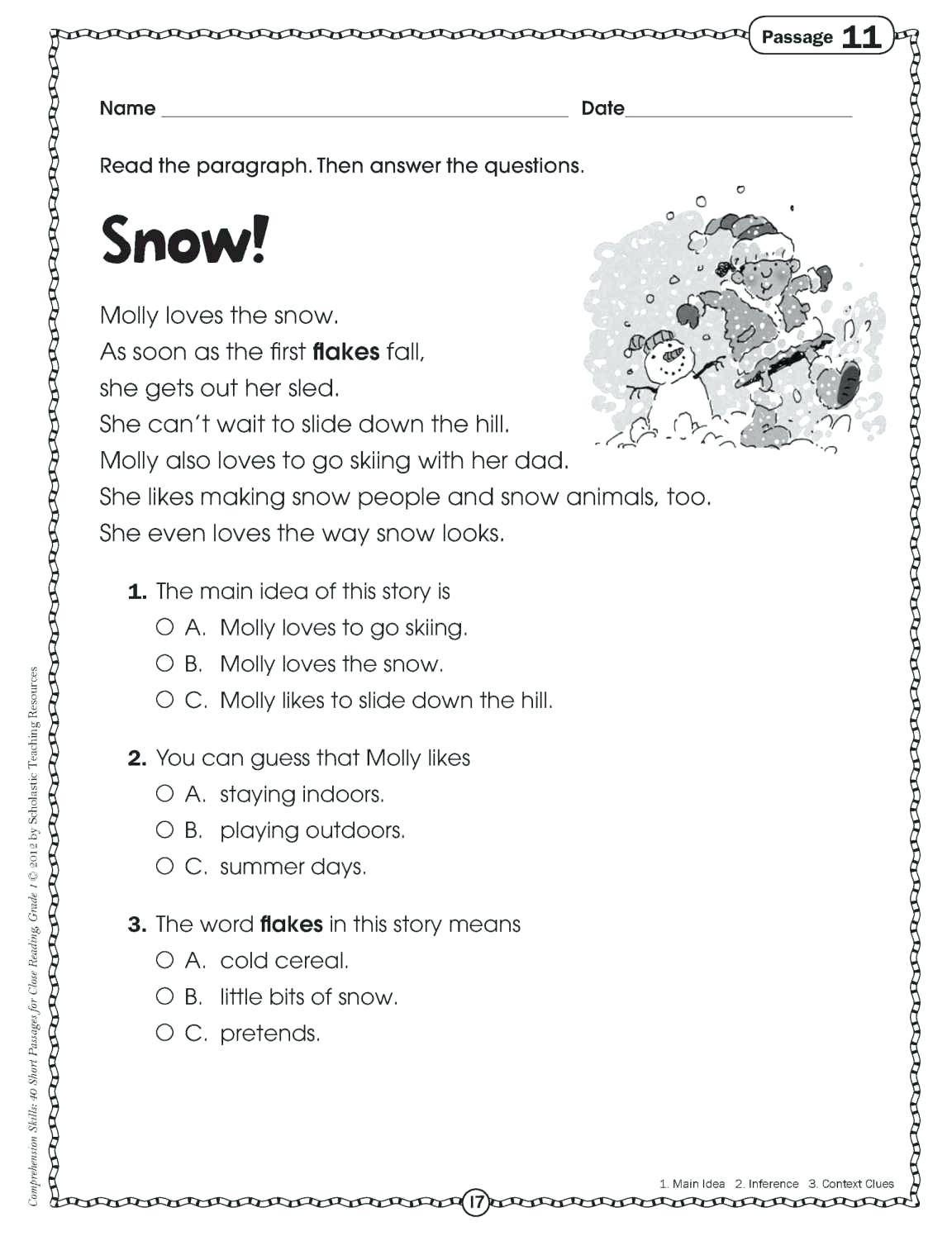 Comprehension Activities For 2Nd Grade Free Printable Reading - Free Printable Reading Games For 2Nd Graders