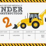Construction Themed Birthday Party Free Printables | Jacqueline   Free Printable Construction Birthday Invitation Templates