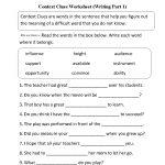Context Clues Worksheet Writing Part 1 Intermediate | Ela | Context   Free Printable 5Th Grade Context Clues Worksheets