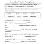 Context Clues Worksheet Writing Part 9 Intermediate | Englishlinx   Free Printable 5Th Grade Context Clues Worksheets