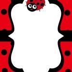 Cool Free Printable Ladybug Baby Shower Invitations Templates   Free Printable Ladybug Baby Shower Invitations Templates
