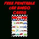 Coolest Car Birthday Ideas   My Practical Birthday Guide In 2019   Free Printable Car Bingo