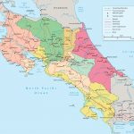 Costa Rica Political Map   Free Printable Map Of Costa Rica