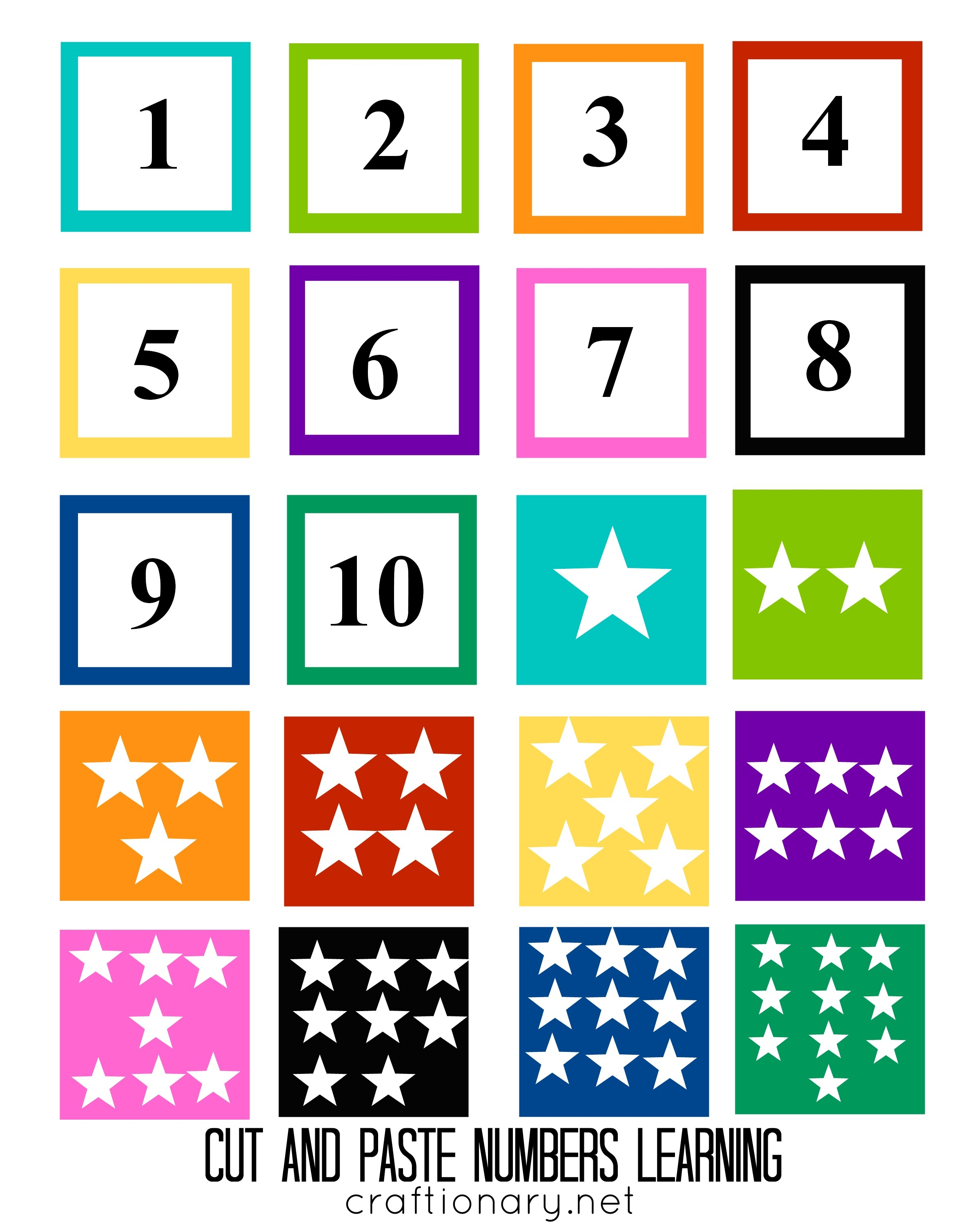 Craftionary - Free Printable Numbers