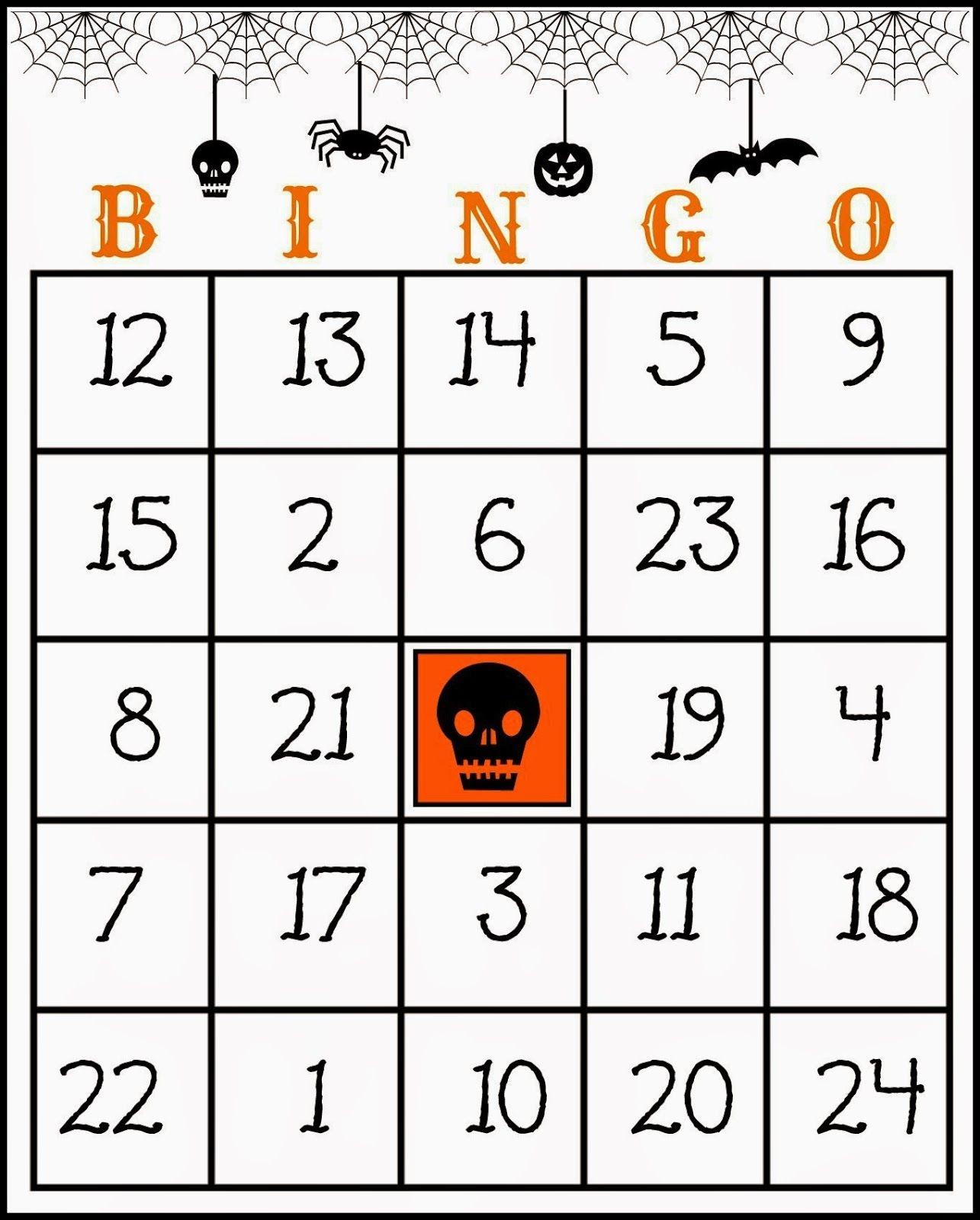 Crafty In Crosby: Free Printable Halloween Bingo Game | Halloween - Free Printable Halloween Bingo Cards