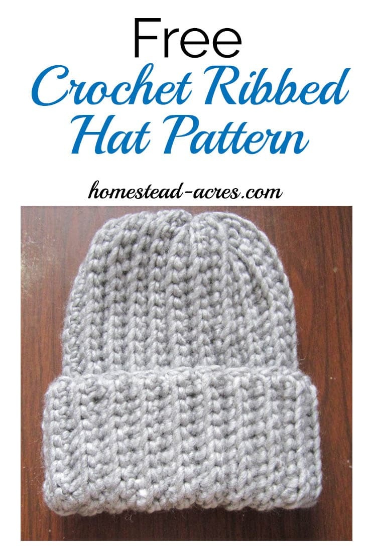 Crochet Ribbed Hat Pattern - Homestead Acres - Free Printable Pilgrim Hat Pattern