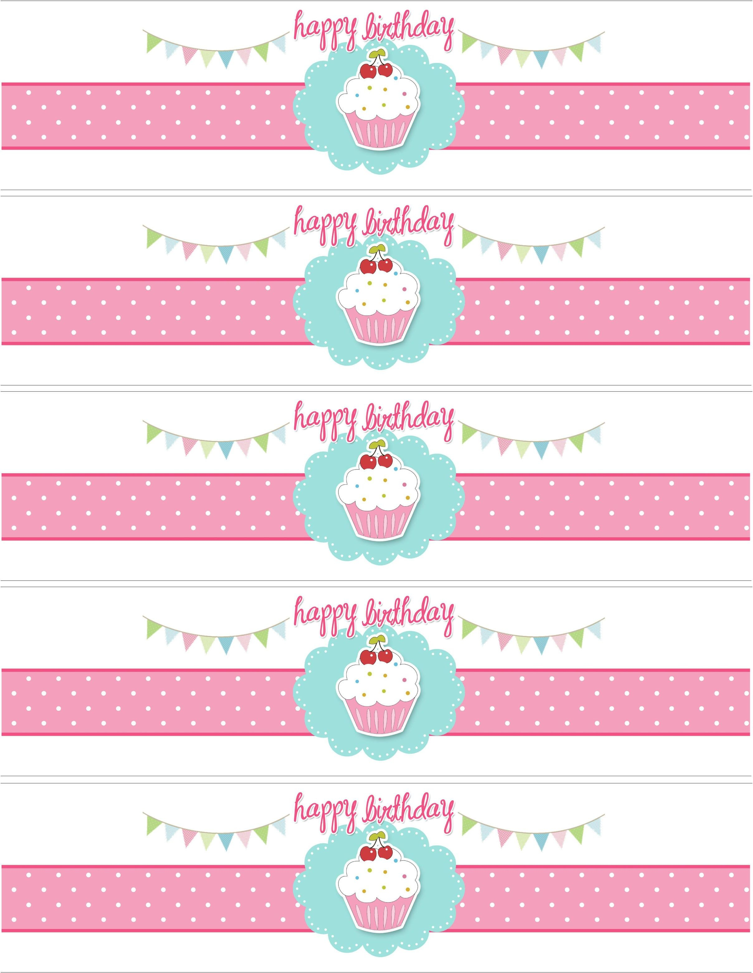Cupcake Birthday Party With Free Printables | Party Ideas - Free Printable Water Bottle Label Template