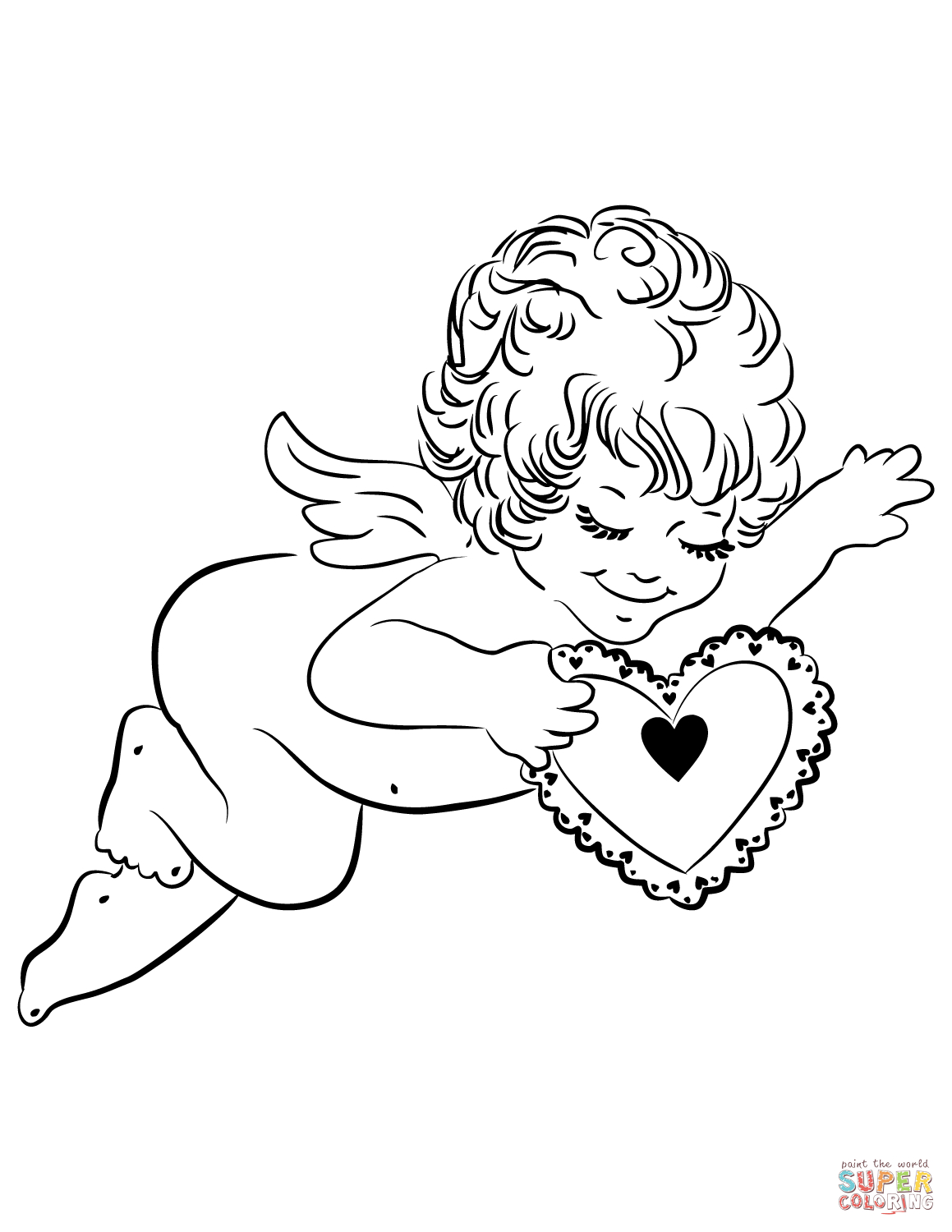 Cupid Coloring Pages | Free Printable Pictures - Free Printable Pictures Of Cupid