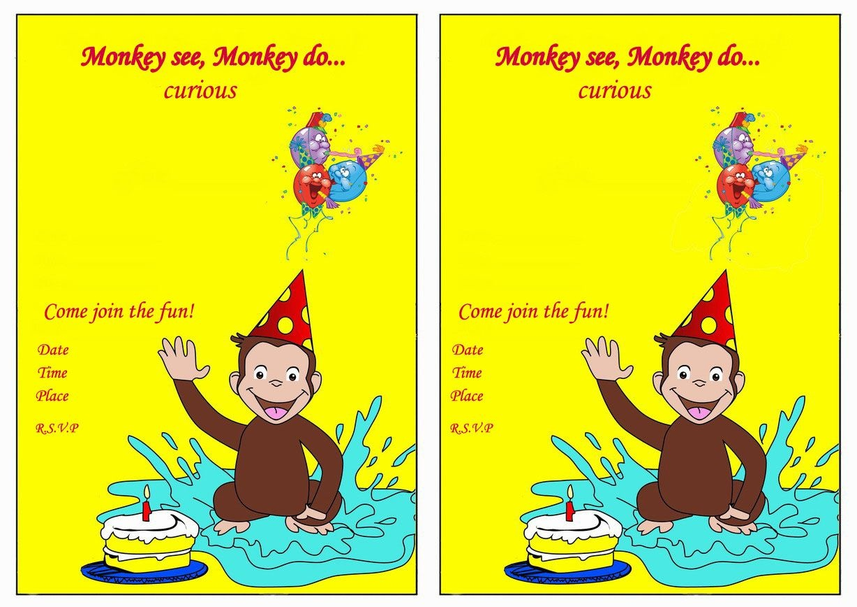 Curious George Birthday Invitations – Birthday Printable | Aiden's - Free Printable Curious George Invitations