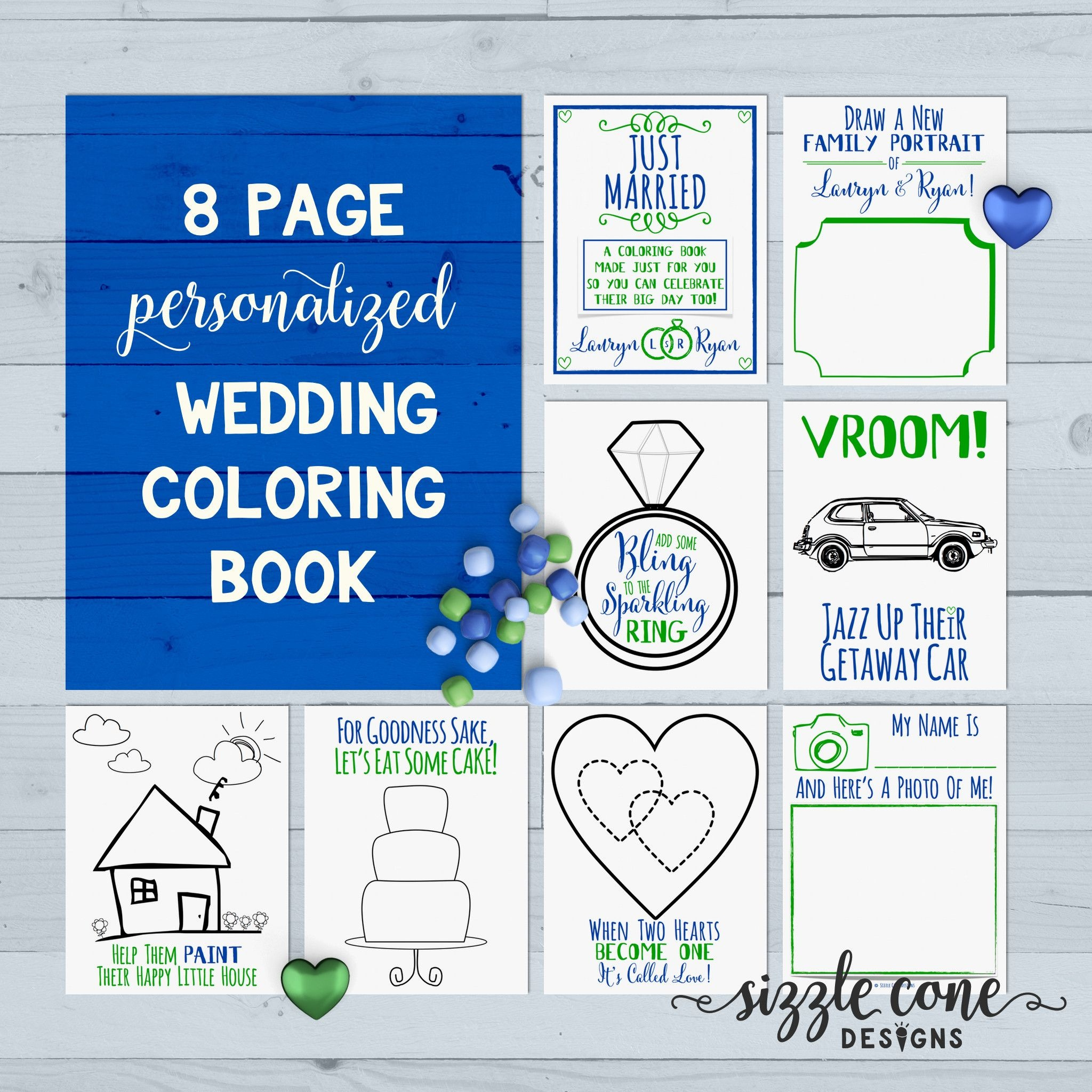 Custom Wedding Coloring Book Pages Printable In 2019 | Member Board - Free Printable Personalized Children's Books
