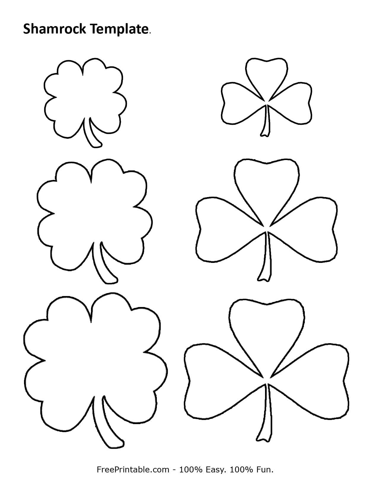 Customize Your Free Printable Shamrock Template | Home | Shamrock - Shamrock Template Free Printable