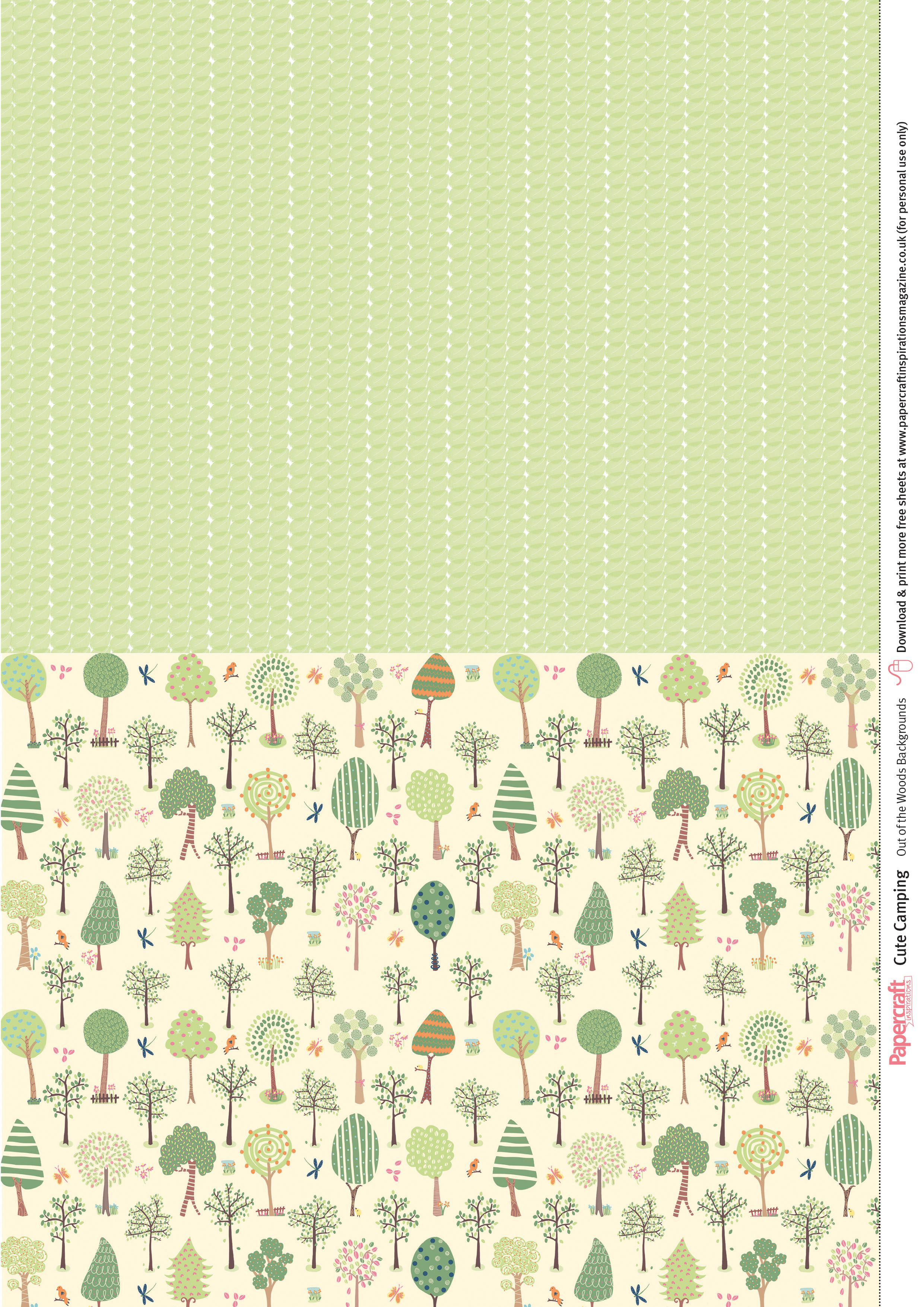 Cute Camping Free Digital Papers | Scrapbook And Smashbook | Free - Free Printable Paper