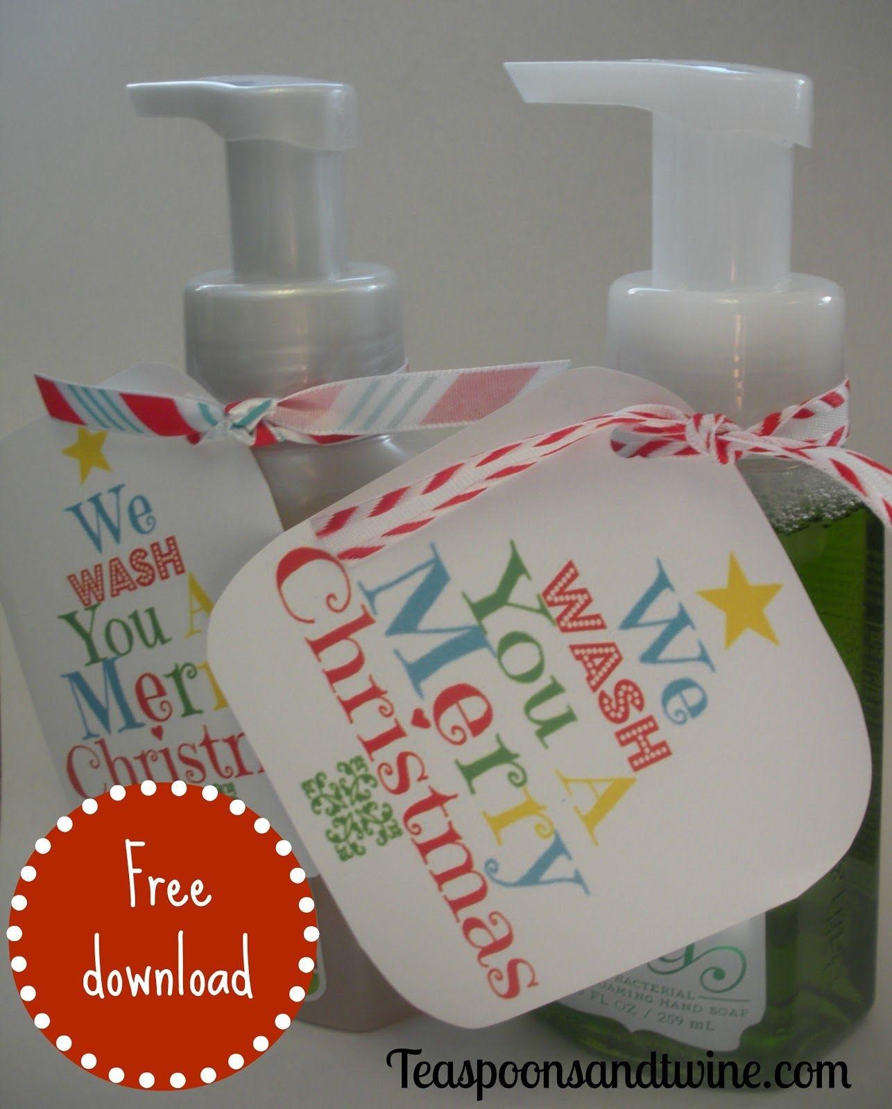 Cute Christmas Gift Idea | Christmas | Feliz Navidad, Regalos - We Wash You A Merry Christmas Free Printable