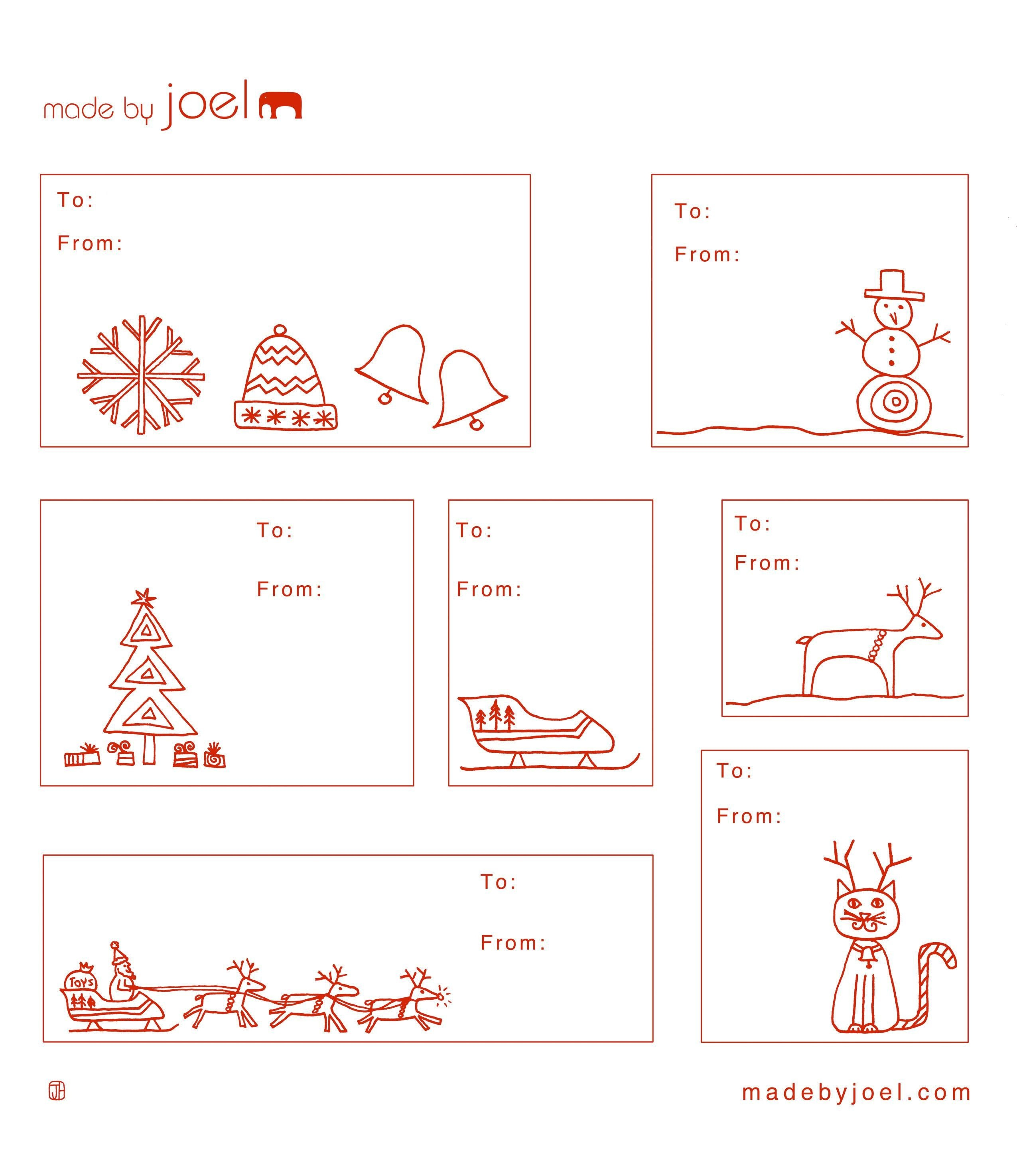 Cute Holiday Gift Tags. You Can Print Them On Avery Full-Sheet - Free Printable Holiday Gift Labels