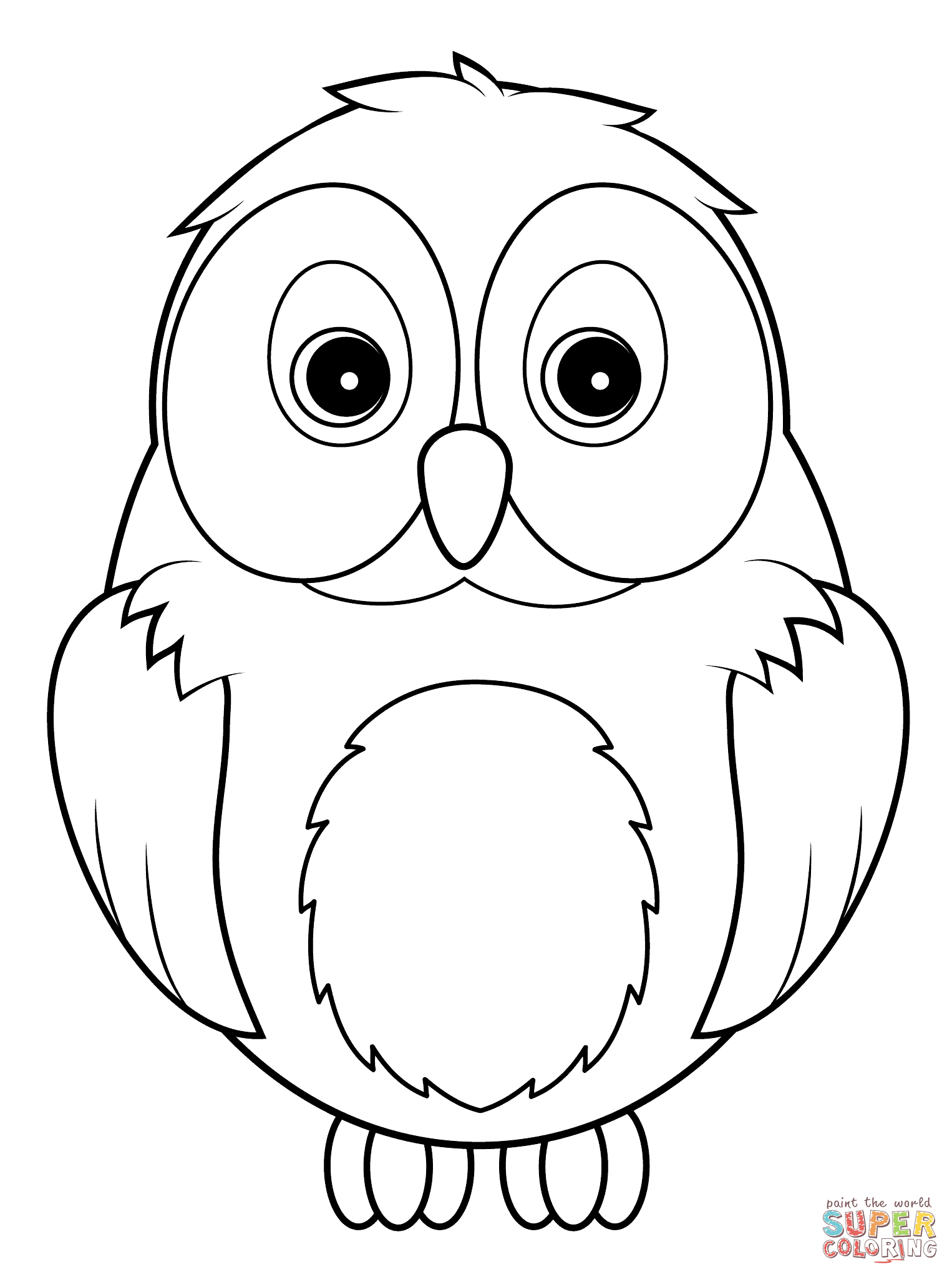 Cute Owl Coloring Page   Free Printable Coloring Pages - Free Printable Owl Coloring Sheets