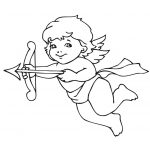 Cute Valentine Cupid Coloring Page | Free Printable Coloring Pages   Free Printable Pictures Of Cupid