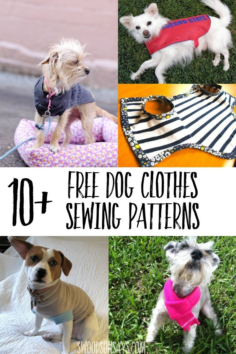 Cutest Paid & Free Printable Dog Clothes Patterns | Free Sewing - Dog Sewing Patterns Free Printable