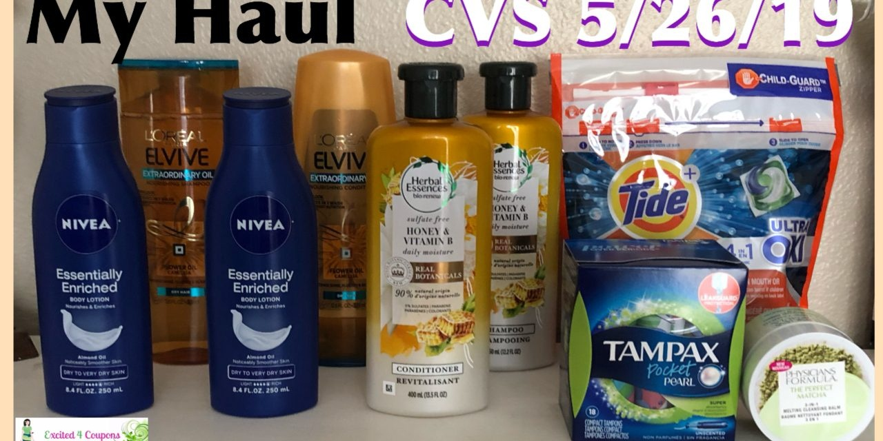 Cvs 5/26/19 Haul From $56.48 (Free Nivea & L'oreal)) - Excited 4 Coupons - Free Printable Nivea Coupons