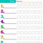 Daily Responsibilities Chart For Kids! Free Printable To Help   Free Printable Teenage Chore Chart