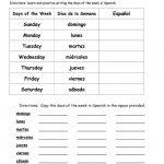 Days Of The Week In Spanish Worksheet   Free Esl Printable   Free Printable Spanish Numbers