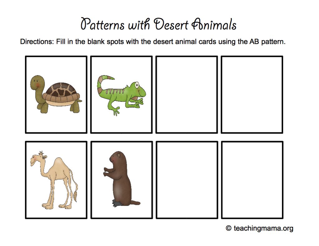Desert Animal Printables - Teaching Mama - Free Printable Desert Animals