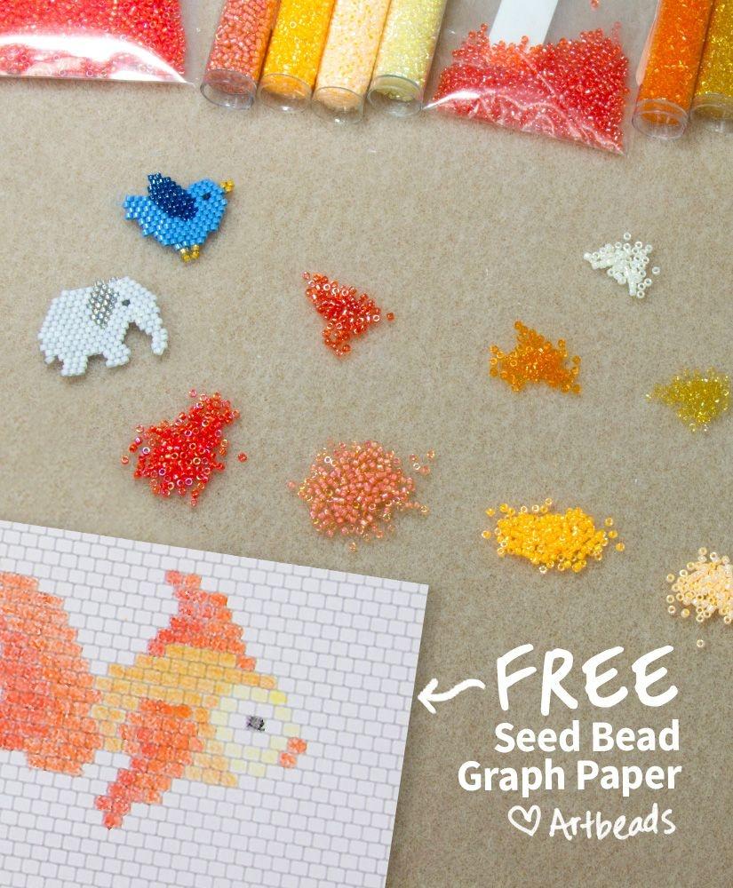Designer Downloads - Free Printable Seed Bead Graph Paper | Stunning - Free Printable Beading Patterns