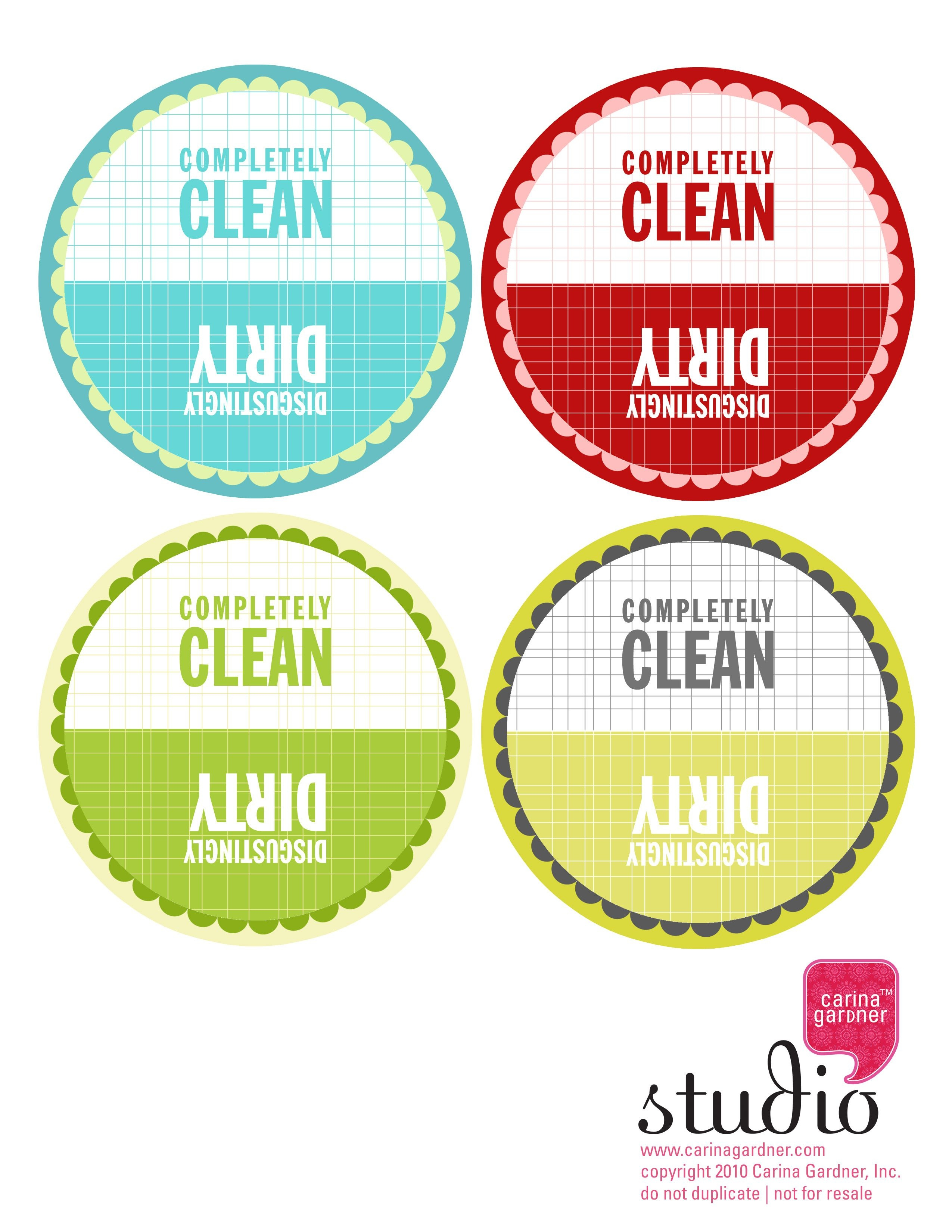 Dirty And Clean Dishwasher Tag—Free Download – | Free Printables - Free Printable Clean Dirty Dishwasher Sign