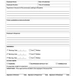 Disciplinary Action Form | Employee Forms | Employee Performance   Free Printable Hr Forms